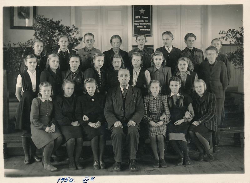 Rakvere I Mittetäieliku Keskkooli VII a klass (RM F 953:92); Virumaa Muuseumid SA